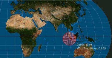 زلزله شدیدی در جنوب غربی سوماترا ، اندونزی رخ داد