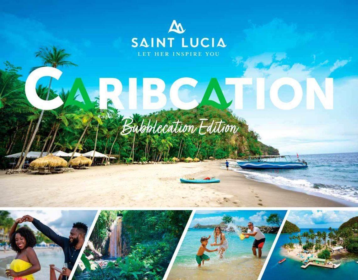 """सेंट लुसिया """"बबलकेशन"""" अभियान के माध्यम से कैरेबियन आगंतुकों का स्वागत करता है"""