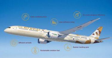 Boeing dia manandrana sidina mangina sy madio kokoa miaraka amin'ny Etihad Airways