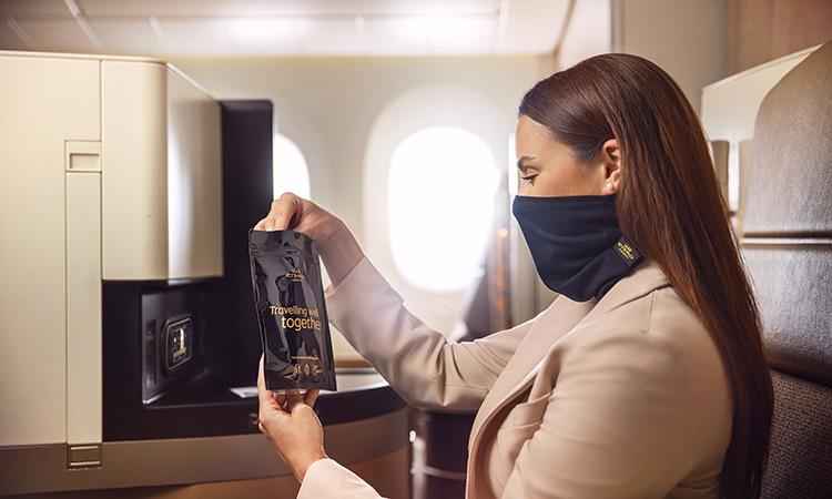एतिहाद एयरवेज प्रीमियम यात्रियों के लिए नया फेस मास्क पेश करता है