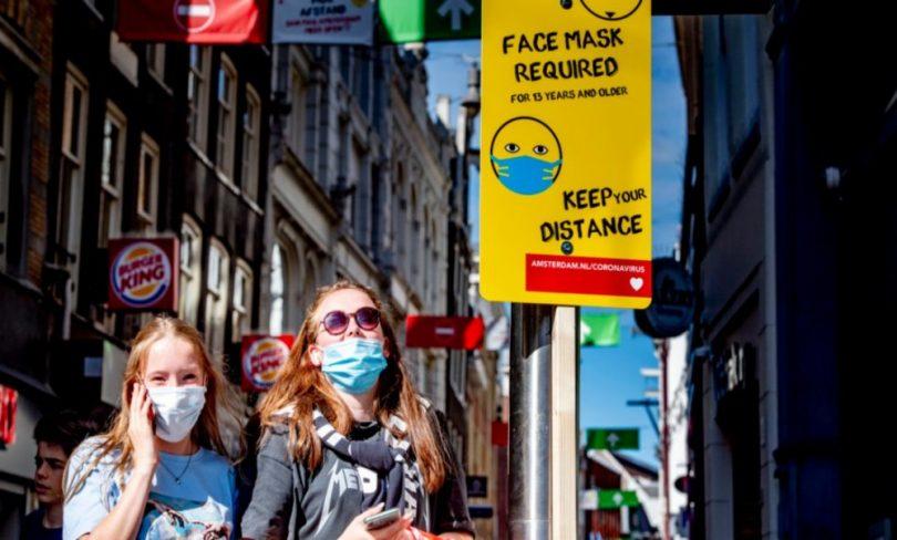 اکنون آمستردام و روتردام در خیابان های شلوغ شهر به ماسک صورت نیاز دارند