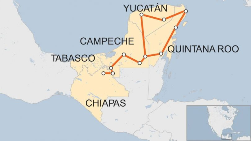 پنج ایالت مکزیک اتحاد گردشگری منطقه Mundo Maya را تشکیل دادند
