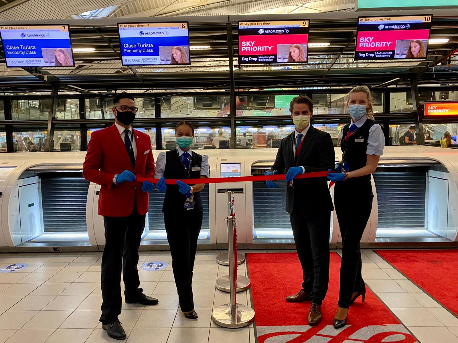 Aeromexico launches automated check in process in Amsterdam's Schipho International Airport