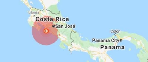 Maanjäristys rokkaa Costa Rican pääkaupunkia