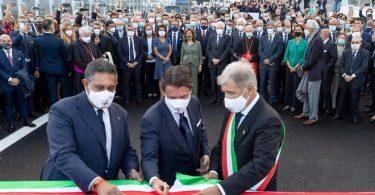 پل جدید جنوا به یاد زندگی از دست رفته افتتاح شد
