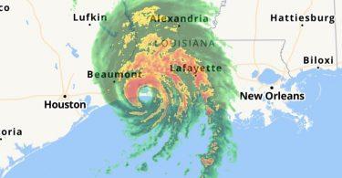 Ny rivodoza Monster dia namely an'i Louisiana tamin'ny rivotra 241 km / ora
