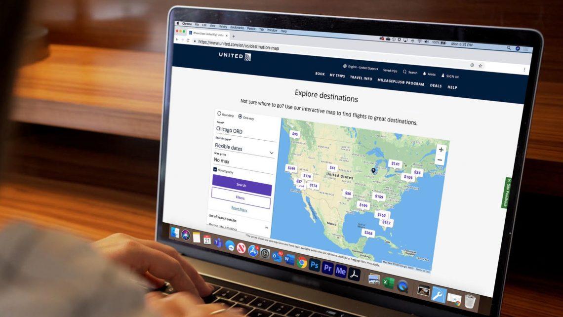 გაერთიანებული პირველი აშშ ავიაკომპანია, რომელიც ონლაინ რეჟიმში აწარმოებს ფუნქციას 'Map Search'