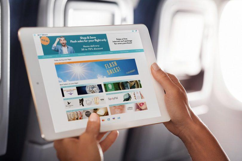 لوفتهانزا والخطوط الجوية النمساوية تختبران منصة التسوق على متن الطائرة SKYdeals