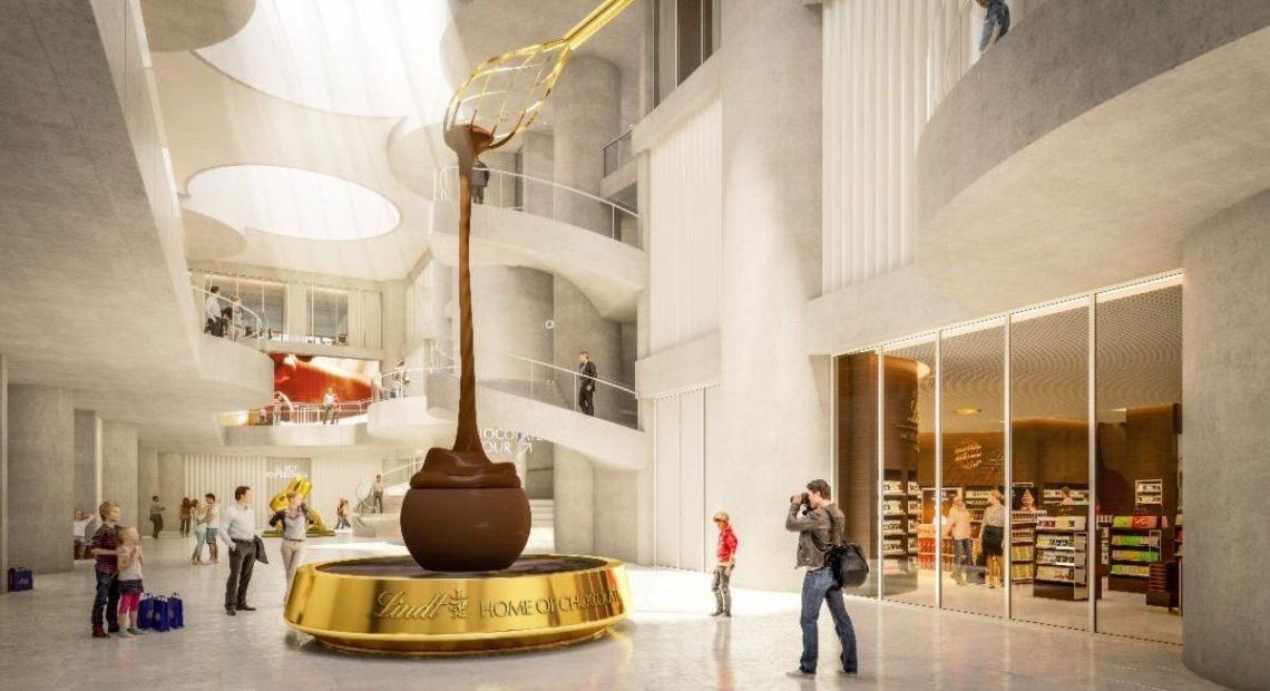 Najväčší svetový obchod s čokoládou Lindt a múzejné perá v Zürichu 13. septembra