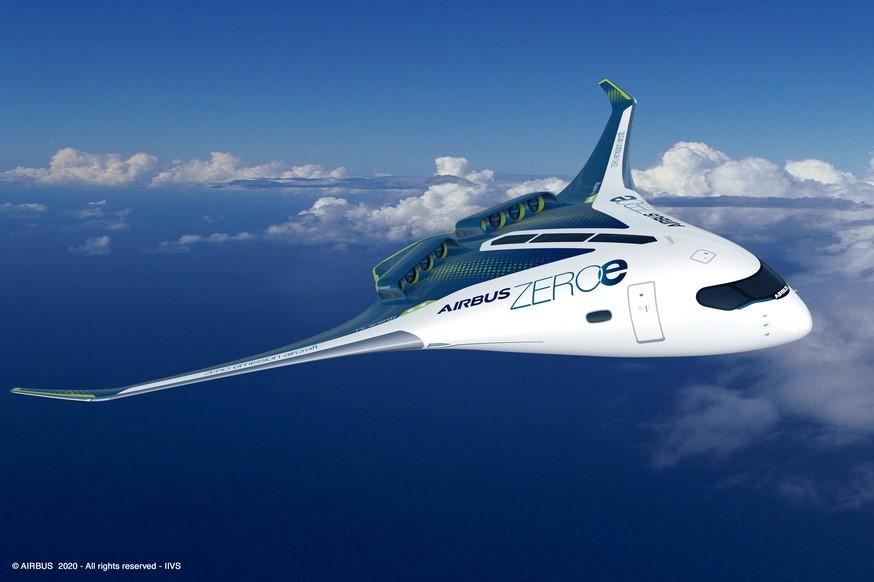 Airbus mbukak pesawat konsep emisi nol anyar