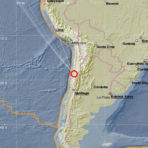 Tsy nisy tsunami taorian'ny horohoron-tany 6.80 tany Chile