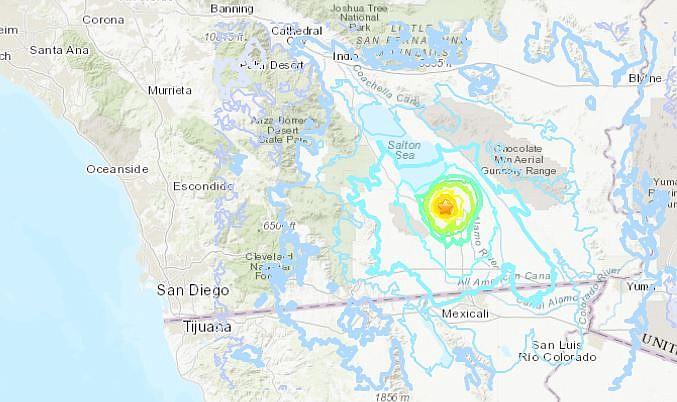 Possibilità di un terremoto di 7+ in California nei prossimi 7 giorni