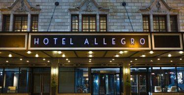 Allegro հյուրանոցը բարձրանում է Bismarck հյուրանոցի կայքից