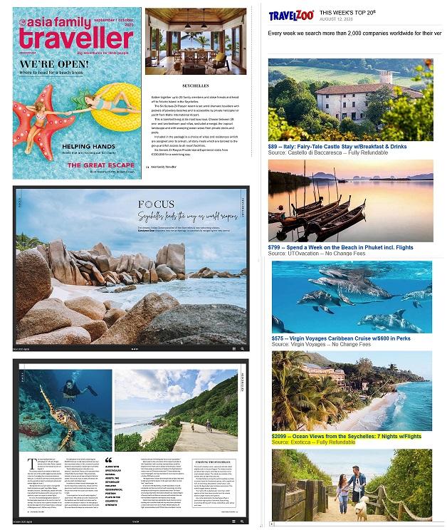 Seychelles Showcased in September Issue of Asia Family Traveller Magazine