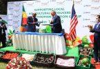 उड़ान के भोजन पर यूएसएआईडी के साथ इथियोपियाई एयरलाइंस साझेदार