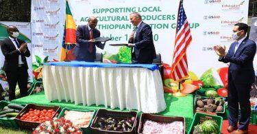 エチオピア航空は機内食でUSAIDと提携しています