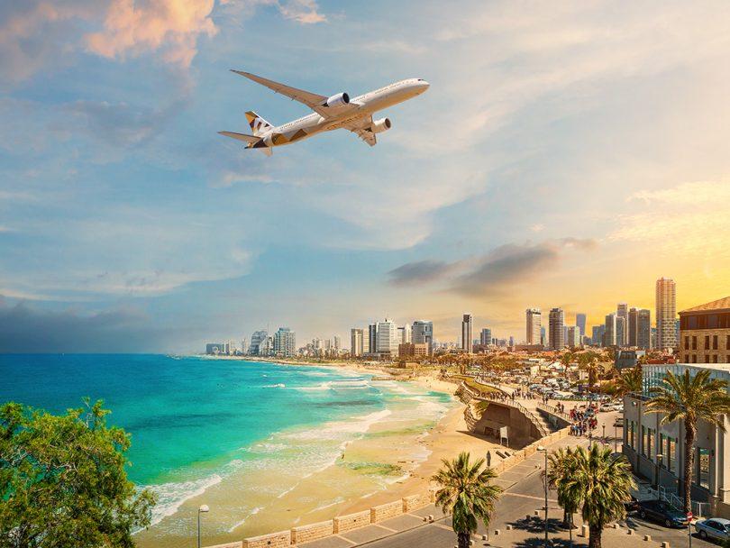 जीसीसी ते इस्राईलला जाणा .्या पहिल्या प्रवासी विमानाने एतिहादने इतिहास घडविला