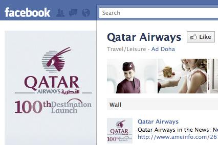 """Qatar Airways se stala """"nejsledovanější"""" leteckou společností na Facebooku"""