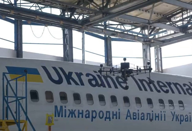 Ukraine International Airlines uses drone-based scanning for aircraft inspections