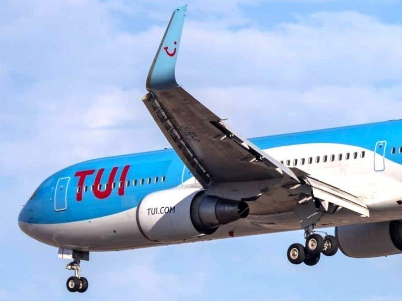 O primeiro voo da TUI da temporada de inverno de 2020 chegou a Santa Lúcia vindo do Reino Unido