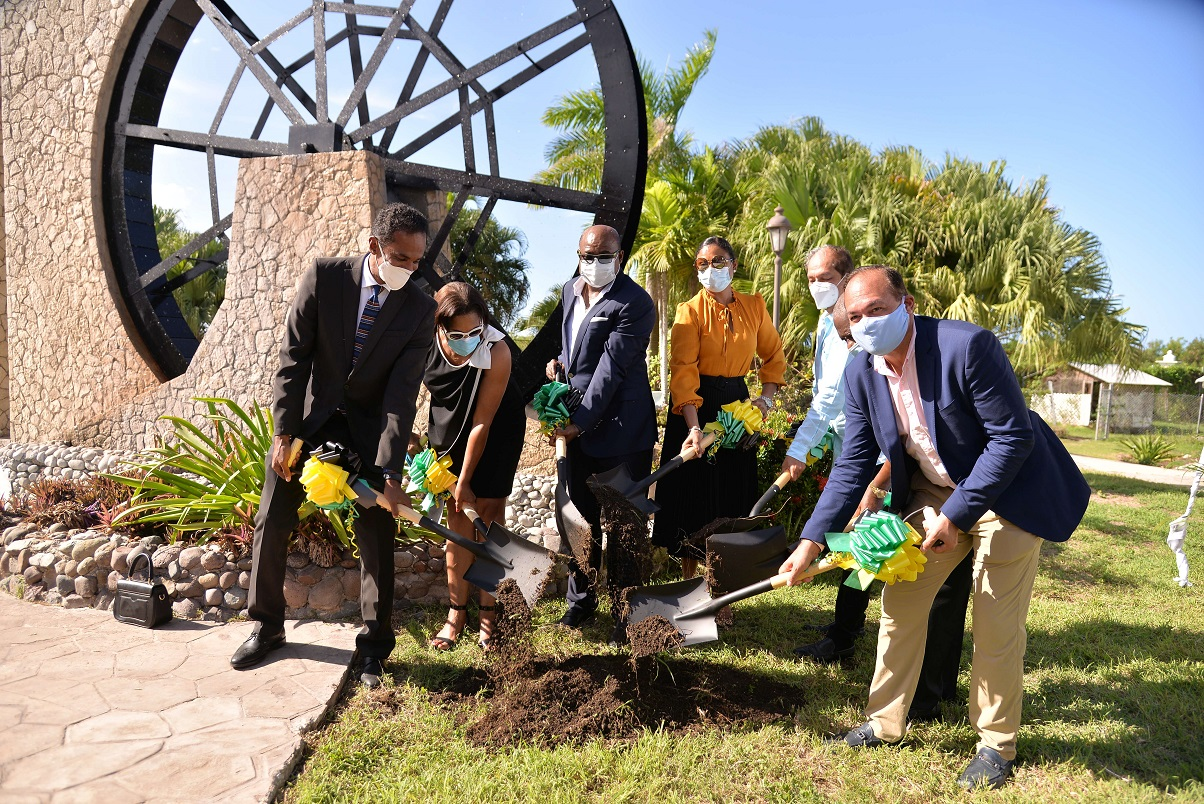 Jamaica's Tourism Minister Bartlett breaks ground for iconic shopping experience