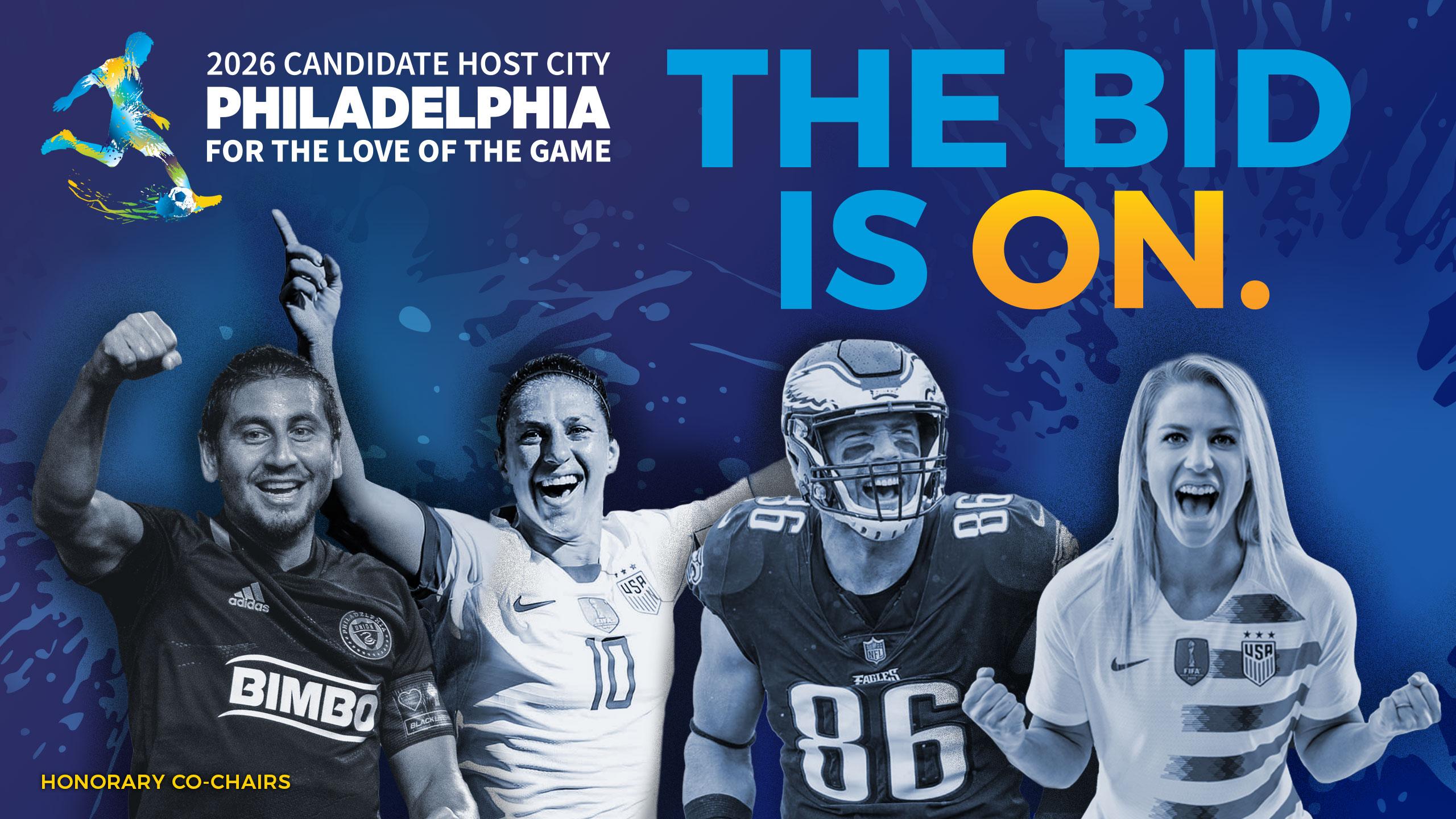 Philadelphia 2026 World Cup bid gets boost from star athletes