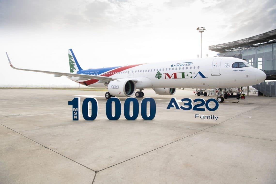 एयरबस मध्य पूर्व एयरलाइंस के लिए A321neo विमान वितरित करता है