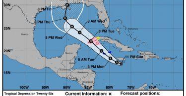 طوفان: جامائیکا ، کوبا ، جزایر کیمن ، سواحل خلیج ایالات متحده