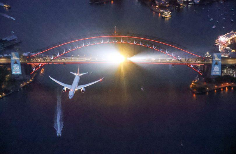 Sydney předvádí show pro Qantas Centenary