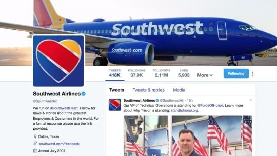 Southwest Airlines sees 2X surge in influencer conversations on Twitter