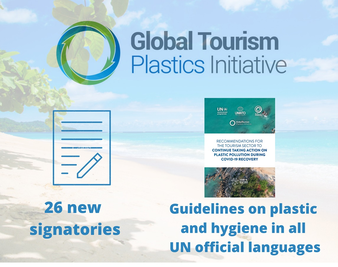 UNWTO Global Tourism Plastics Initiative welcomes 26 new signatories
