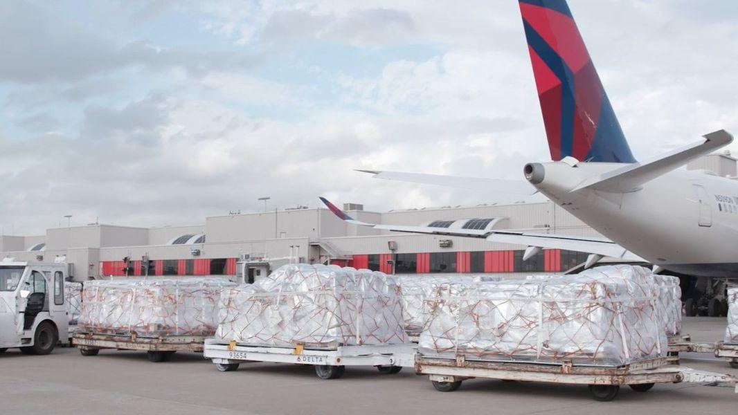 Delta Air Lines lanseart plande ienige frachtfluchten tusken FS, Yndia en Jeropa