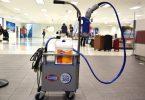 युनाइटेड एयरलाइन्सले क्लोरोक्स इलेक्ट्रोस्टेटिक स्प्रेयरको प्रयोग एयरपोर्ट टर्मिनलहरूको कीटाणुशोधन गर्न