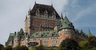 Le Chateau Frontenac Quebec City. Նշված պատմական տեսարժան վայր