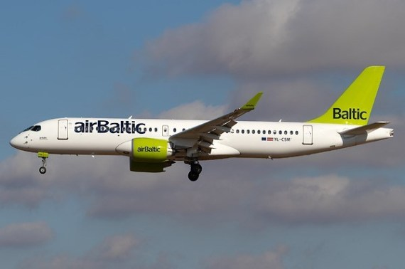Chorus Aviation delivers two Airbus A220-300 aircraft to airBaltic