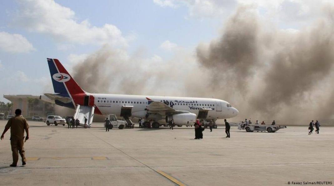 Több tucatnyian meghaltak és megsebesültek az Aden Nemzetközi Repülőtér jemeni támadásában