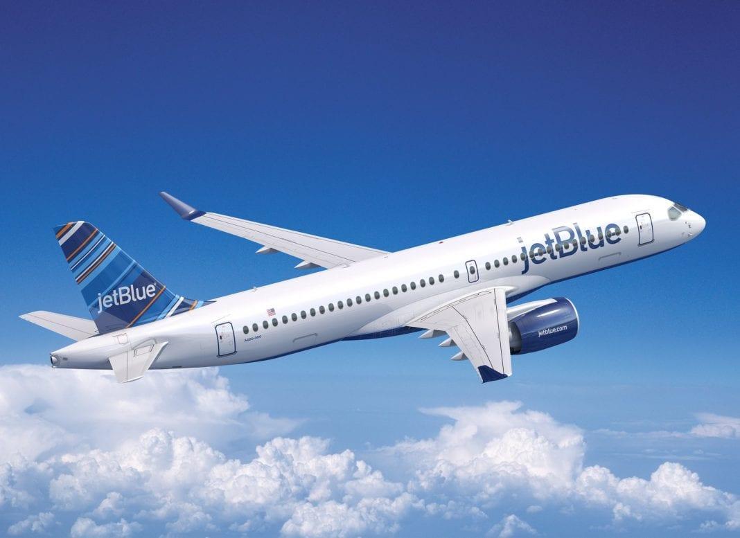 JetBlue krouží v novém roce s novým proudovým letounem Airbus A220-300