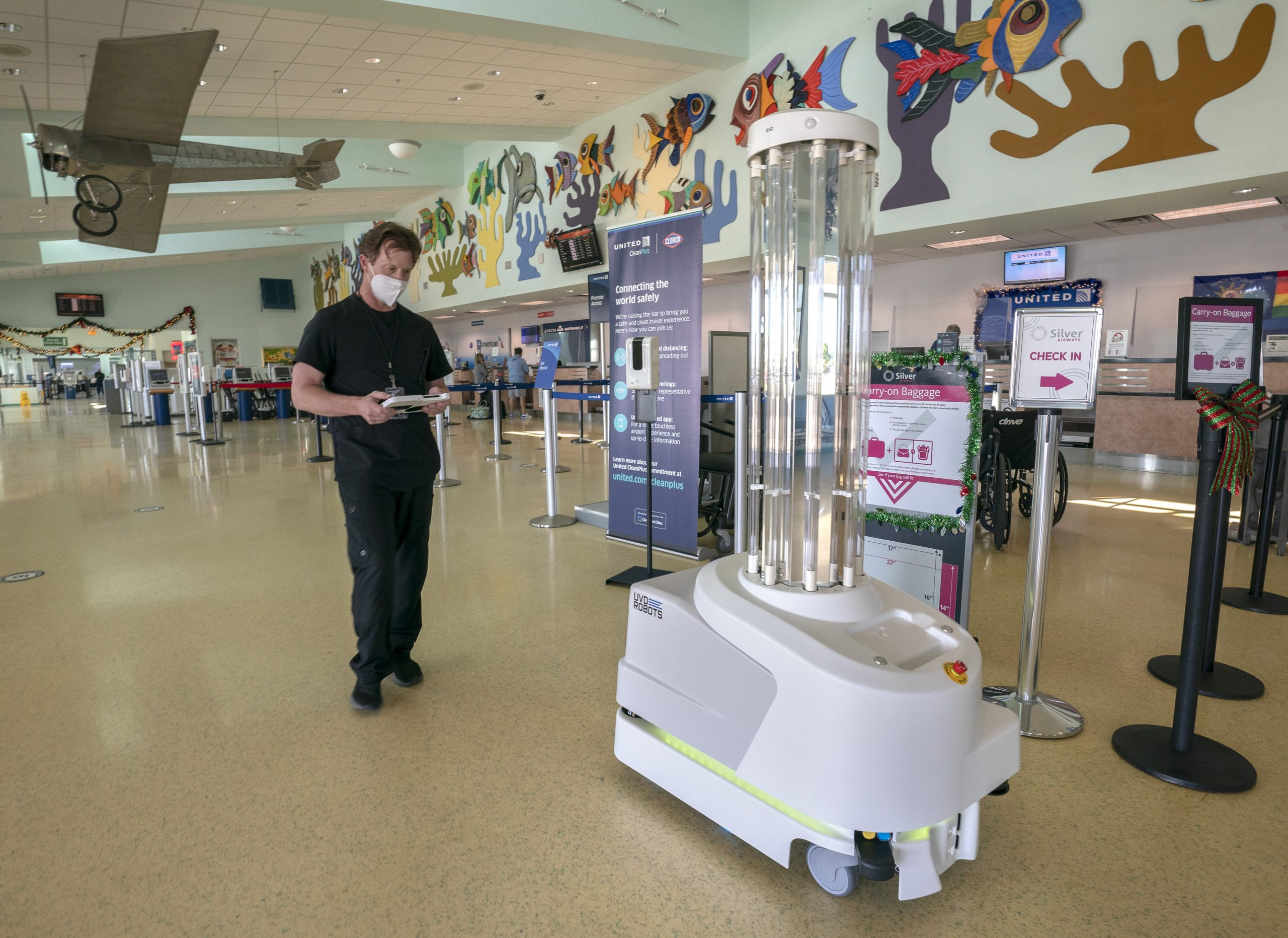 Key West Airport fights COVID-19 with ultraviolet disinfection robot