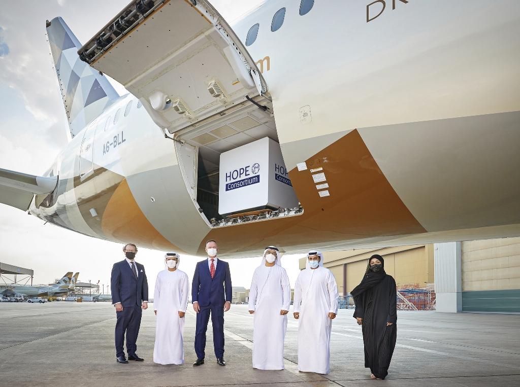 The Hope Consortium  flies 2 million COVID-19 vaccine dozes into Abu Dhabi