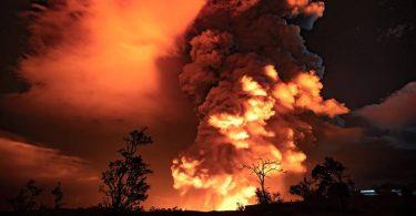 O volcán en Hawai estoupou