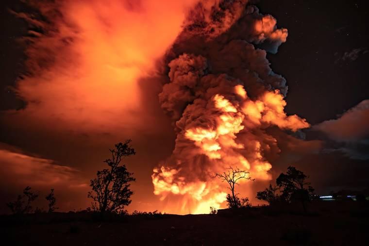 Sudden Massive Volcano Eruption on Hawaii Island