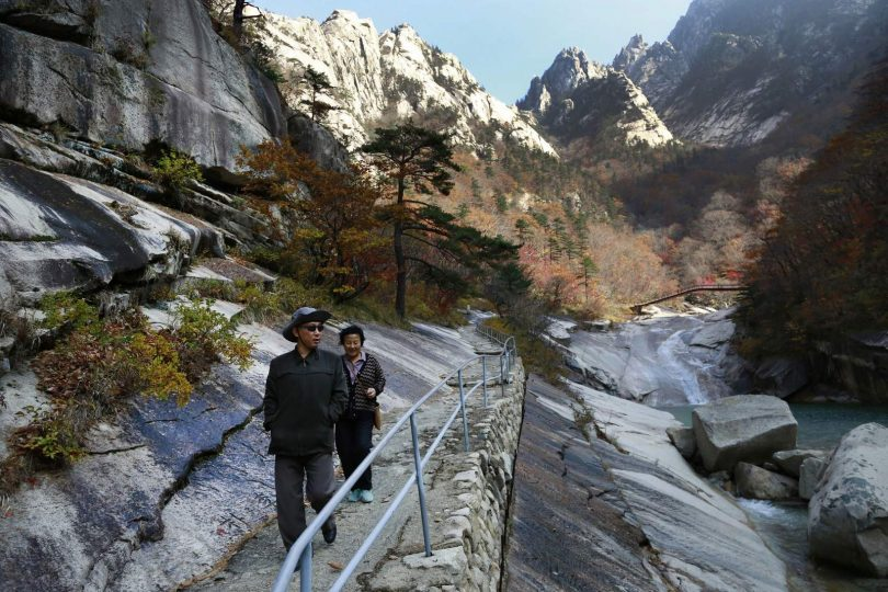 Nordkorea zur Entwicklung des Bergtourismus