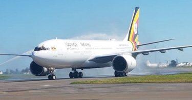 اولین هواپیمای ایرباس 330-800 در خطوط هوایی اوگاندا در Entebbe سقوط کرد