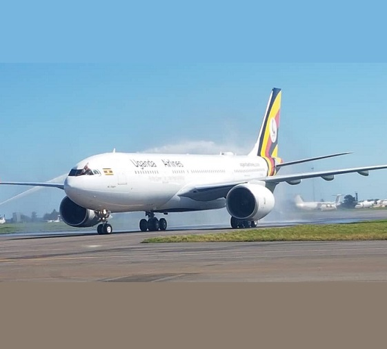 Kutanga Uganda Airlines Airbus 330-800 inobata muEntebbe