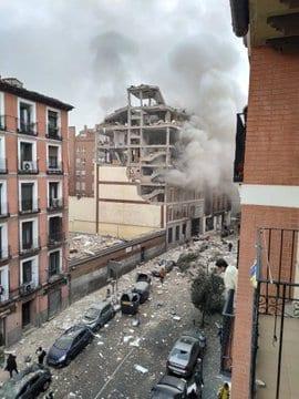 در انفجار بزرگ مادرید 3 نفر کشته و 6 نفر زخمی شدند