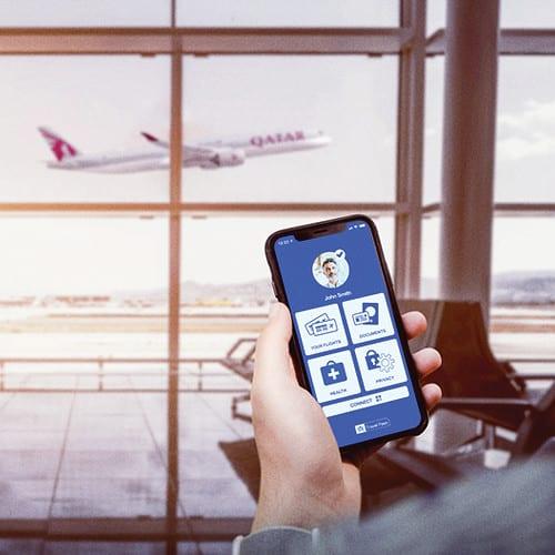 Qatar Airways выпрабуе мабільную праграму IATA Travel Pass COVID-19 Digital Passport