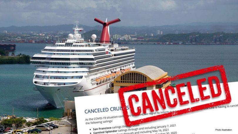 कार्निवल क्रूज 31 मार्च, 2021 के माध्यम से सभी अमेरिकी कार्यों को रद्द कर देता है