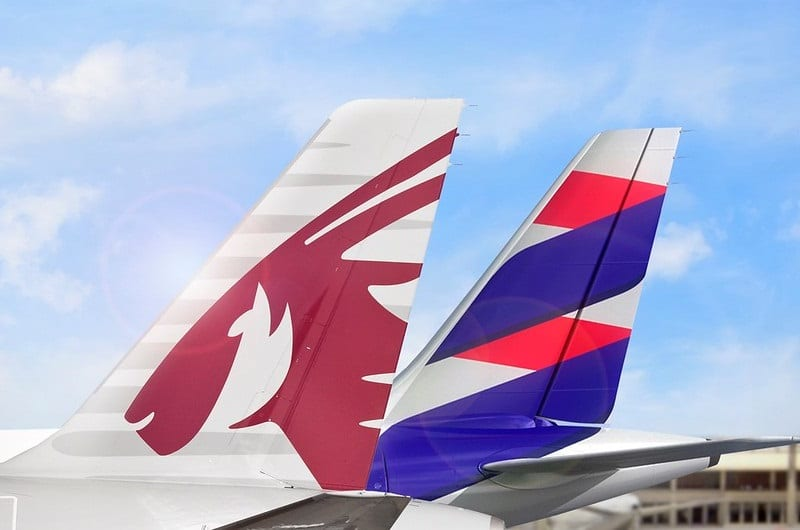 Qatar Airways and LATAM expand South America networks