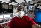 JAXA astronaut Sochi Noguchi in the SpaceX Cargo Dragon