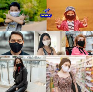 DONY MASK - premium antibacterial cloth face mask (washable, reusable) with CE, FDA, TUV Reach, DGA Certification